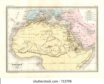 Antique Map of Ancient Africa
