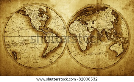 Antique Map World Circa 1711 Year Stock Photo Edit Now 82008532