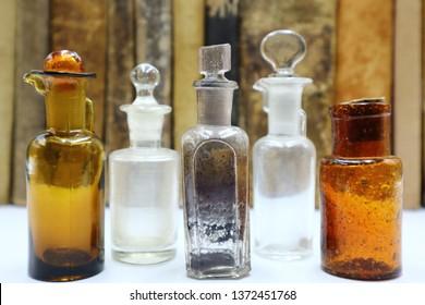Antique Medicine Bottles, 1800s Victorian Era