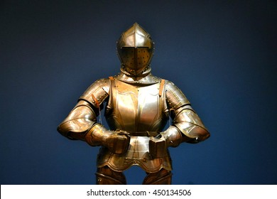 Antique medieval knight armour