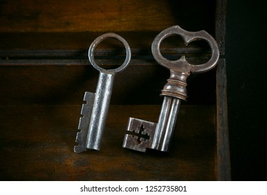 Antique metal keys