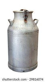 Antique Milk Can isolated with clipping Path