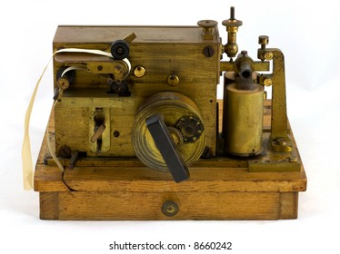 Antique Morse Code Inker As used by Marconi to mark or record Morse code signals on paper