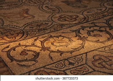 Antique mosaic in Aquileia