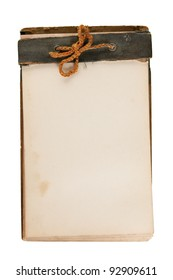 Antique notebook, original old isolated on white