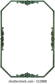 Antique octagon frame border. Rare design from the early 1900's.Some grunge and wear intact. Work path. Just drop in your image.