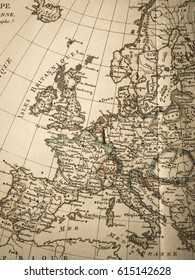 Antique old map Europe