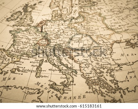 antique old map europe stock photo edit now 615183161 shutterstock