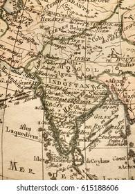 Antique old map Iberia Peninsula