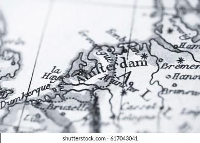 Antique old map Netherlands