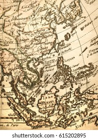 Antique old map Southeast Asia