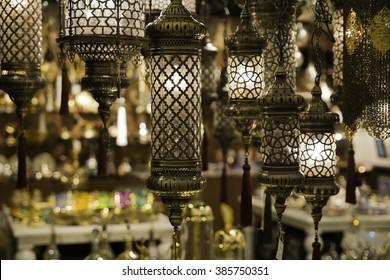 Antique orient oil lamps
