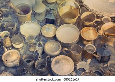 antique Oriental Turkish iron Old dishes, trays, teapots, coffee, Turks, samovars, pans, plates,pots,jugs