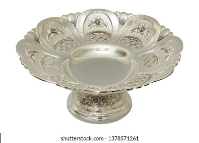 antique ornate silver plate