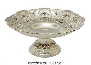 antique ornate silver plate