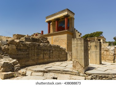 Antique Palace Knossos Crete Greece Stock Photo Edit Now 435008530