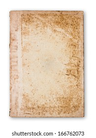 Antique paperback document isolated on white background