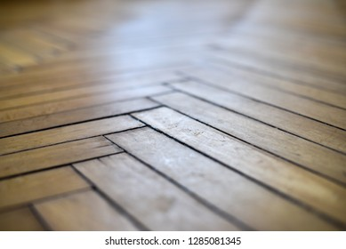 Antique parquet made of oak wood. Half century old parquet.