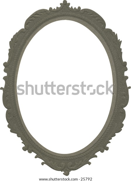 Antique picture frame #3. Nicely detailed oval.