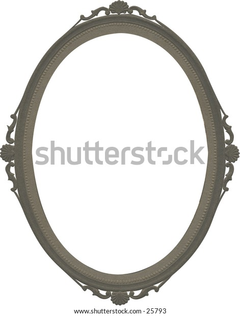 Antique picture frame #4. Classic oval design from early 1900s