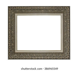 Antique picture frame isolated on a white.