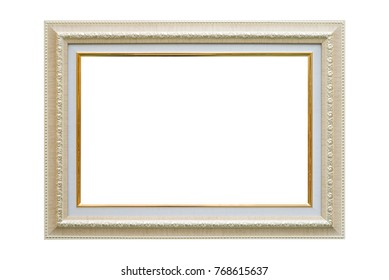 Antique picture frame on white