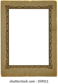 Antique picture frame. With work path. Just drop in your image.