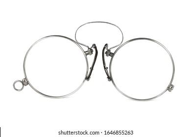 antique pince-nez lorgnette gold eyeglasses