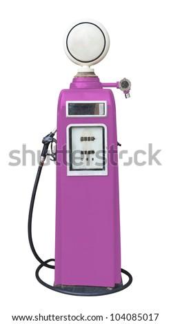 Antique Pink Gas Pump On White Stock Photo (Edit Now) 104085017 ... 32d1c94174925