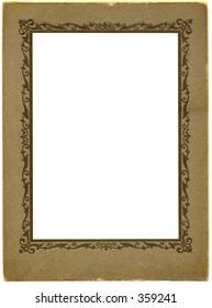 Antique portrait picture frame.