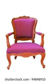 antique purple armchair