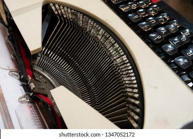 Antique qwerty keyboard typewriter