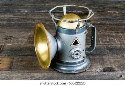 Antique Railroad powerlite lantern made in the 1930's.