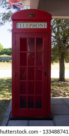 Antique Red Telephone Booth