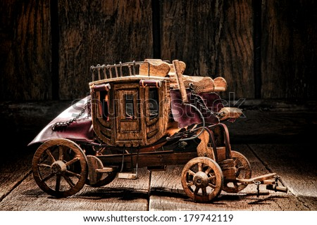 Antique reproduction miniature western
