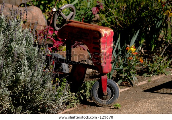 antique Rusted Toy Tractor