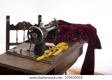 Antique Sewing Machine Study Tailoring Italian Stock Photo Edit Now Adorable Italian Sewing Machine