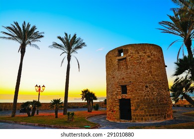 antique sighting tower by the sea in Alghero, Sardinia