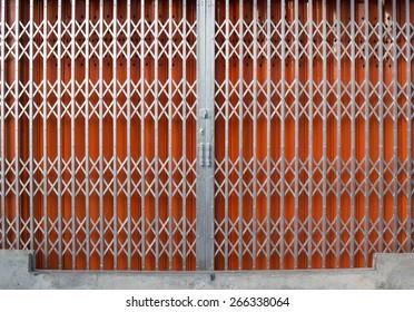 Superieur Antique Slide Steel Locked Shutter Door