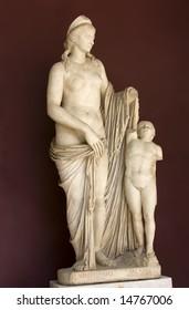 Antique statue of goddess Venus in Vatican