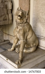 Antique statue of pretty dog in Vatican