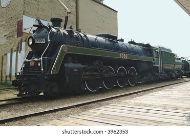 Antique steam train used for tours in central Alberta.
