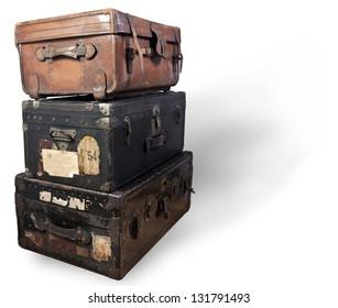 Antique steamer trunk.
