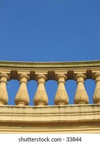 Antique stone balustrade.