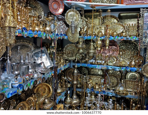 Antique Store Different Vintage Subjects Ioannina Stock Photo