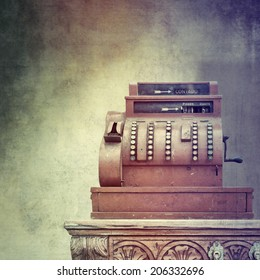 Antique style cash register