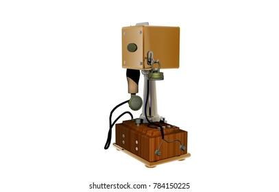 Antique Telephone 3D rendering