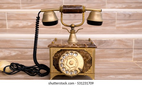 Antique telephone, Home telephone, Vintage telephone, abstract of communication
