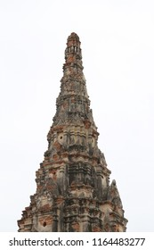 antique thai temple at ayutthaya