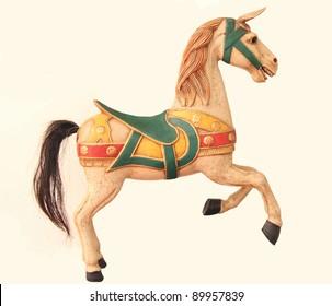Antique Toy Bavarian Carousel Horse